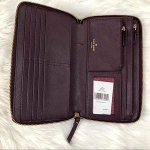 Kate Spade zip around large travel wallet
